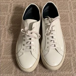 Woman by Common Projects White Patent Sneakers. 39